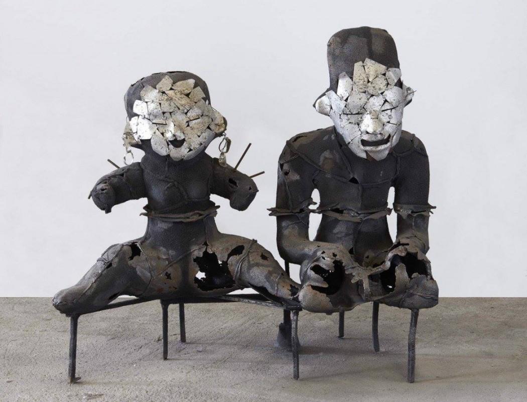 frantz fanon - scultura di xavier mascaro