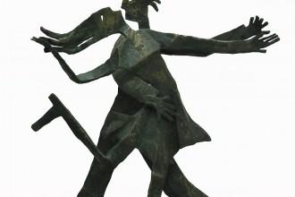 Enrico Benaglia - Il tango - scultura in bronzo altezza cm 55