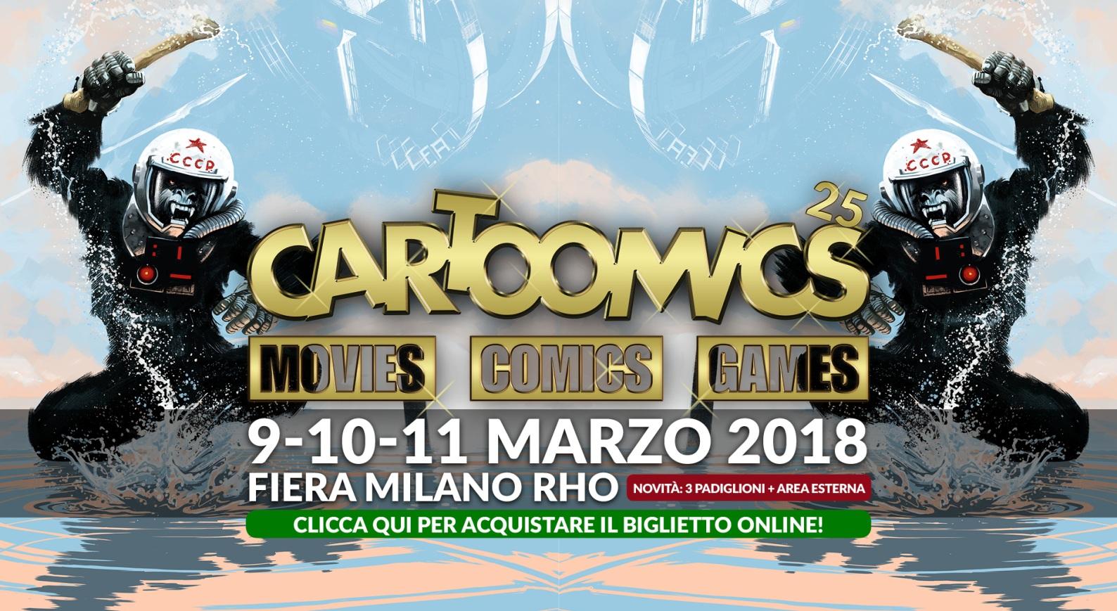 Il Cartoomics: anticipazioni sul 25esimo anniversario della fiera di Milano