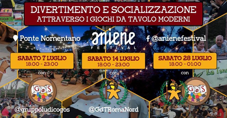 Aniene Festival e Castel Sant'Angelo: due proposte per i giocatori da tavolo